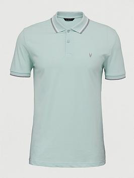 V by Very V By Very Tipped Pique Polo Top - Mint Picture