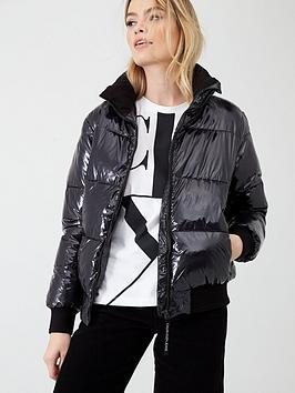 Calvin Klein Jeans   Shiny Padded Jacket - Black