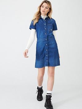 Calvin Klein Jeans Calvin Klein Jeans Short Sleeve Desert Diner Dress -  ... Picture