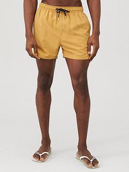V by Very V By Very Basic Swim Shorts - Mustard Picture