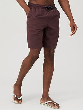 V by Very V By Very Basic Longer Length Swimshorts - Fudge Picture