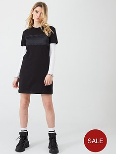 calvin-klein-jeans-tonal-logo-tape-t-shirt-dress-black