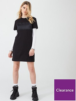 calvin-klein-jeans-tonal-logo-tape-t-shirt-dress-black
