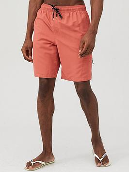 V by Very V By Very Basic Longer Length Swimshorts - Coral Picture