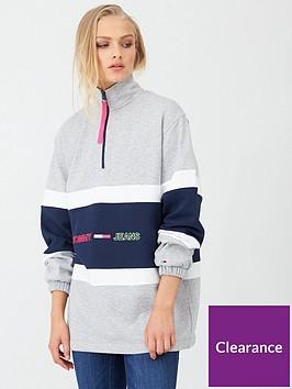 tommy-jeans-colour-block-mock-neck-sweat-grey