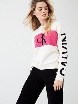 Calvin Klein Jeans Calvin Klein Jeans Statement Logo Jumper - White Picture
