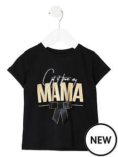 river-island-mini-mini-girls-printed-bow-t-shirt-black