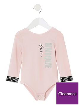 river-island-mini-mini-girls-active-unique-bodysuit-pink