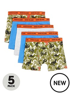 river-island-mini-mini-boys-5-pack-camo-printed-boxers-multi