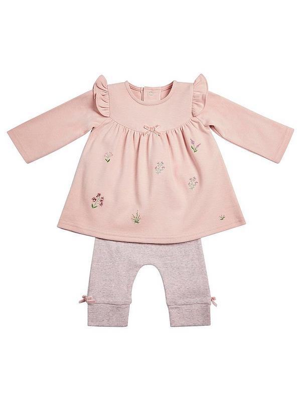 Mamas /& Papas Baby Girls Frill Legging Pink