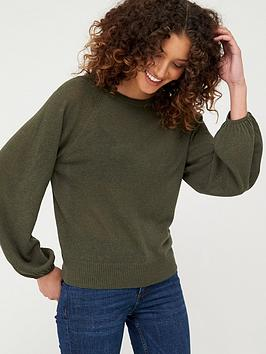 V by Very V By Very Tie Back Neck Jumper - Khaki Picture
