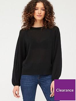 v-by-very-tie-back-neck-jumper-black