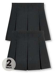 v-by-very-girls-2-pack-classic-pleated-school-skirts-plus-black