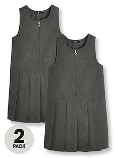 v-by-very-girls-2-pack-pleat-pinaforenbspschool-dressesnbsp--grey