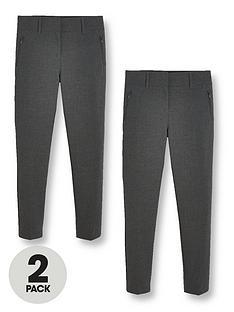 v-by-very-girls-2-pack-skinny-school-trousers-grey