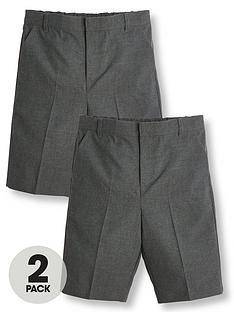 v-by-very-boys-2-pack-school-teflon-shorts-grey