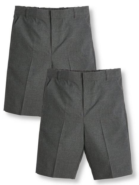 v-by-very-boys-2-pack-schoolnbspshorts-grey
