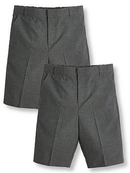 V by Very V By Very Boys 2 Pack School Teflon Shorts - Grey Picture