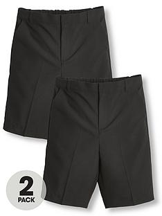 v-by-very-boys-2-packnbspschool-shorts-black