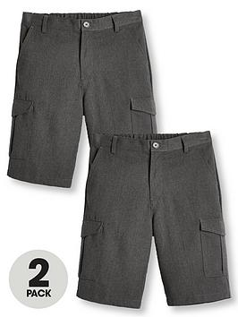 V by Very V By Very Boys 2 Pack Combat School Shorts - Grey Picture