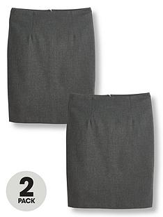v-by-very-girls-2-packnbspwoven-school-pencil-skirt-grey