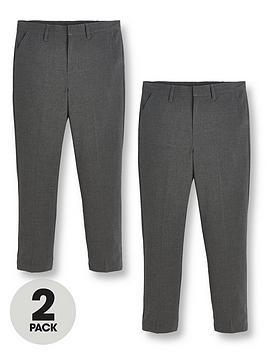 V by Very V By Very Boys 2 Pack Skinny Fit School Trousers Picture