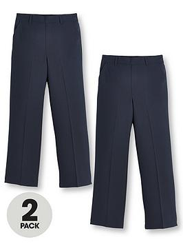 V by Very V By Very Boys 2 Pack Pull On School Trousers Picture