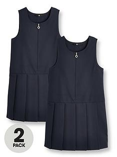 v-by-very-girls-2-pack-pleat-school-pinafore-navy