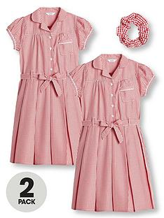 v-by-very-girls-2-pack-traditional-gingham-school-dress-red