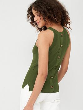 v-by-very-button-back-detail-knitted-vest-khaki
