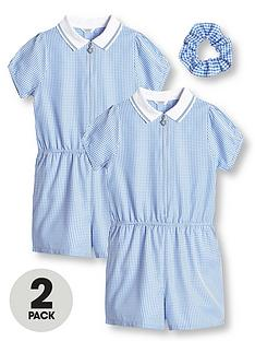 v-by-very-girls-2-pack-gingham-school-playsuit-blue