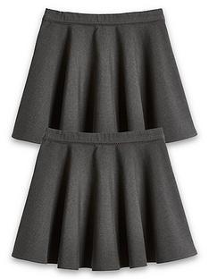 v-by-very-girls-2-pack-woven-skater-school-skirts-grey