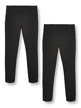v-by-very-girls-2-pack-skinny-school-trousers-black
