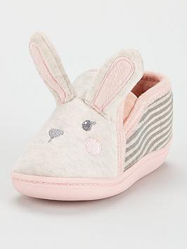 V by Very V By Very Younger Girls Rabbit Slipper - Pink Picture