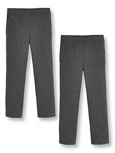 v-by-very-girls-2-pack-woven-school-trouser-reg-grey