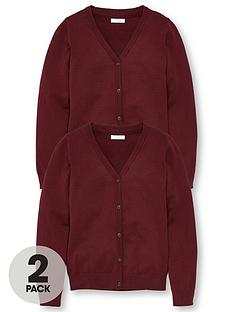 v-by-very-girls-2-pack-school-cardigans-burgundy
