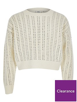 river-island-girls-diamante-long-sleeve-crop-jumper--cream