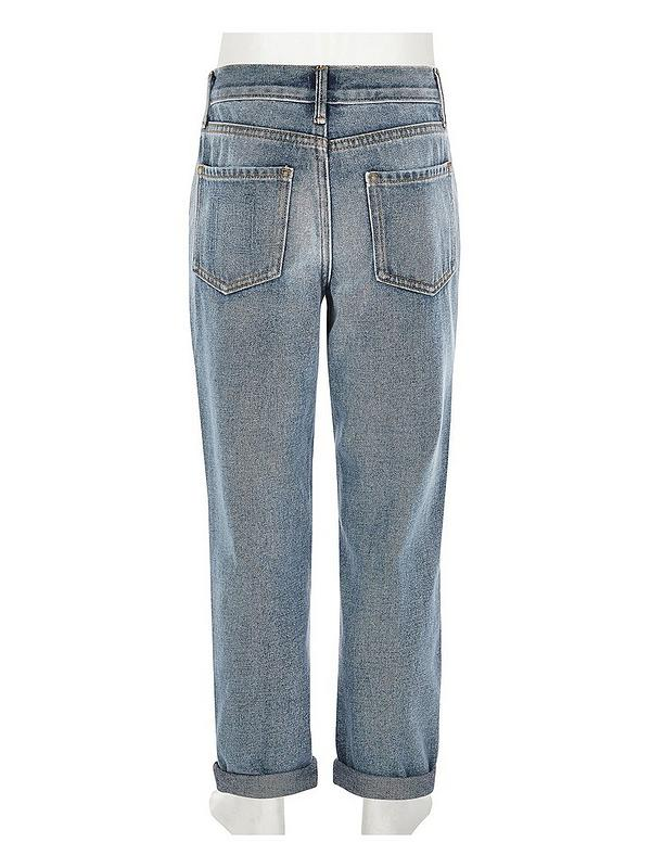 pretty cheap excellent quality buy good River Island Girls Ripped Mom Jean-Blue | littlewoods.com