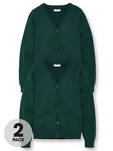 v-by-very-girls-2-pack-school-cardigans-green