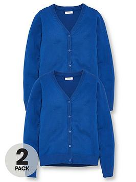 V by Very V By Very Girls 2 Pack School Cardigans - Royal Blue Picture