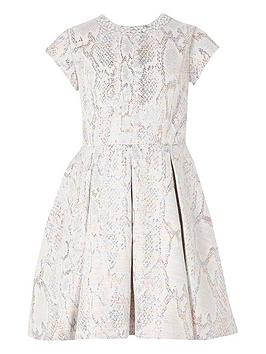River Island River Island Girls Embelished Neck Prom Dress-Silver Picture