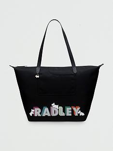 radley-pocket-essentials-london-lights-large-ziptop-tote-bag-black