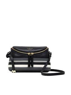 radley-crown-hill-stripe-small-zip-top-cross-body-bag-black