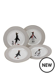 sara-miller-penguin-cake-plates-ndash-set-of-4