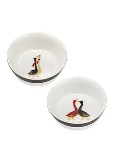 sara-miller-festive-geese-christmas-bowls-ndash-set-of-2