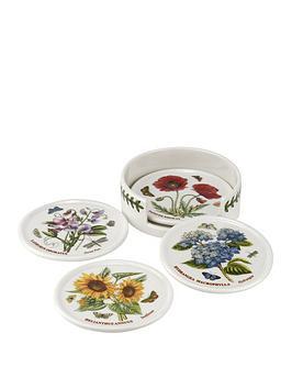 Portmeirion Portmeirion Botanic Garden Coasters With Ceramic Holder  ... Picture