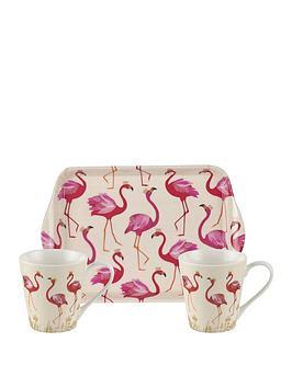 Sara Miller Sara Miller Flamingo Mug And Tray Set Picture