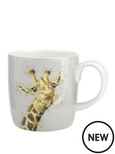 royal-worcester-wrendale-giraffe-flowers-large-mug