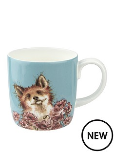 royal-worcester-wrendale-poppy-field-fox-mug