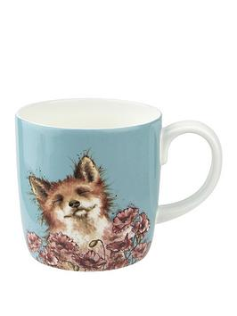 Royal Worcester Royal Worcester Wrendale Poppy Field Fox Mug Picture
